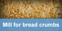 See mill for bread crumbs