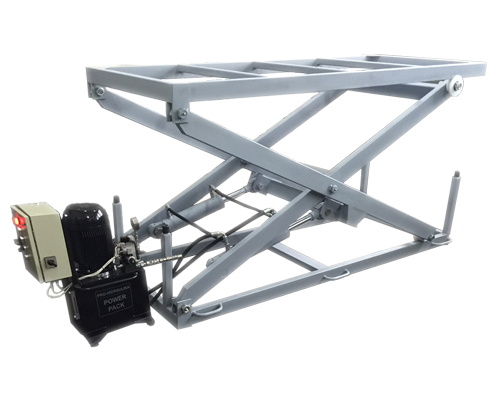 Scissor hydraulic platforms are used for lifting and lowering loads in food, chemical and other industries.
