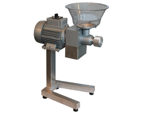 Production of professional coffee grinders. Mill for coffee consists of a pair of carriers with stones made of silicon carbide and stainless steel spiral.