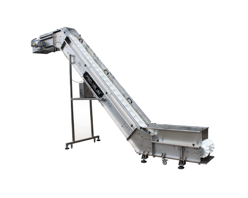 Z-conveyors (angle conveyor) are designed according to customers requirements such as the necessary height to which cargo is transported and needed speed.